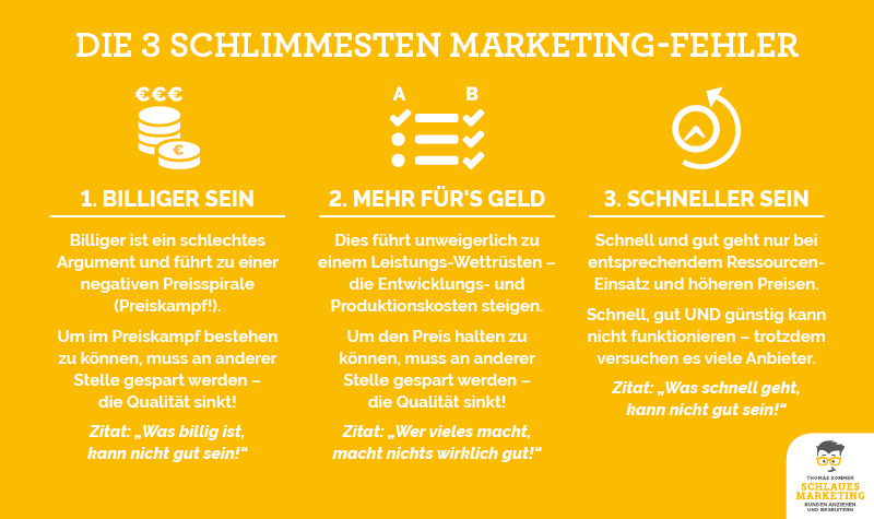 Thomas Sommer - Schlaues Marketing - Alleinstellungsmerkmal - Marketing-Fehler